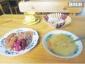 Этот заказ обошелся в 515 тенге. На вывеске был заявлен комплексный обед, но блюда пришлось выбирать самому.