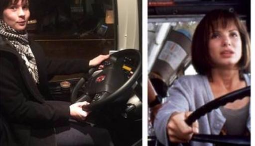 Пассажирка автобуса села заруль вместо нетрезвого водителя