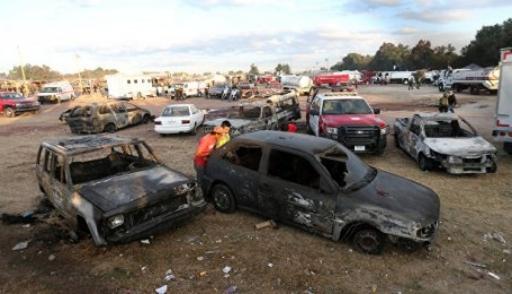 При взрыве рынка пиротехники вМексике пострадали поменьшей мере 120 человек
