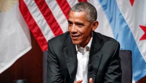 Барак Обама впервый раз после ухода споста президента выступил перед публикой